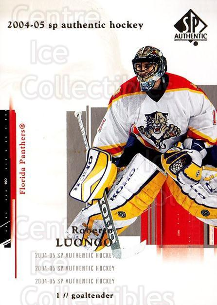 2004-05 SP Authentic #40 Roberto Luongo<br/>6 In Stock - $2.00 each - <a href=https://centericecollectibles.foxycart.com/cart?name=2004-05%20SP%20Authentic%20%2340%20Roberto%20Luongo...&quantity_max=6&price=$2.00&code=123937 class=foxycart> Buy it now! </a>