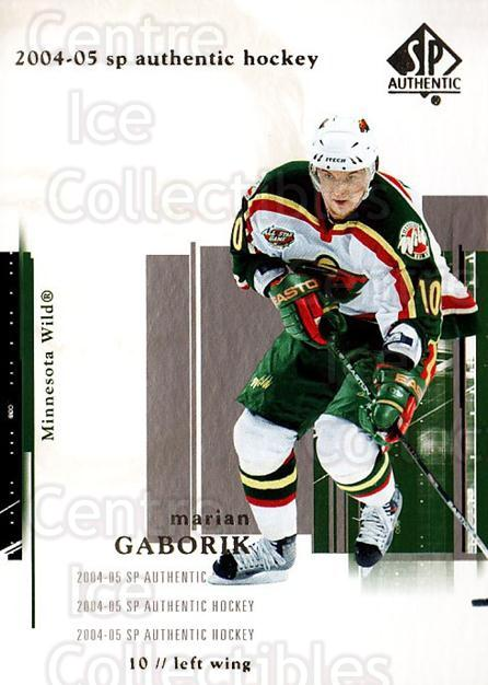 2004-05 SP Authentic #44 Marian Gaborik<br/>6 In Stock - $1.00 each - <a href=https://centericecollectibles.foxycart.com/cart?name=2004-05%20SP%20Authentic%20%2344%20Marian%20Gaborik...&quantity_max=6&price=$1.00&code=123941 class=foxycart> Buy it now! </a>