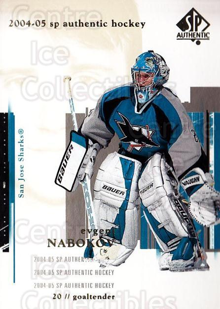 2004-05 SP Authentic #74 Evgeni Nabokov<br/>5 In Stock - $1.00 each - <a href=https://centericecollectibles.foxycart.com/cart?name=2004-05%20SP%20Authentic%20%2374%20Evgeni%20Nabokov...&quantity_max=5&price=$1.00&code=123973 class=foxycart> Buy it now! </a>