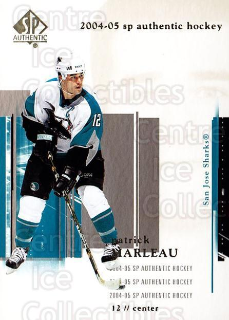 2004-05 SP Authentic #75 Patrick Marleau<br/>6 In Stock - $1.00 each - <a href=https://centericecollectibles.foxycart.com/cart?name=2004-05%20SP%20Authentic%20%2375%20Patrick%20Marleau...&quantity_max=6&price=$1.00&code=123974 class=foxycart> Buy it now! </a>