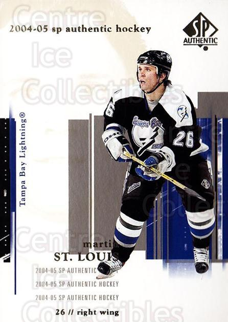 2004-05 SP Authentic #81 Martin St. Louis<br/>5 In Stock - $1.00 each - <a href=https://centericecollectibles.foxycart.com/cart?name=2004-05%20SP%20Authentic%20%2381%20Martin%20St.%20Loui...&quantity_max=5&price=$1.00&code=123981 class=foxycart> Buy it now! </a>