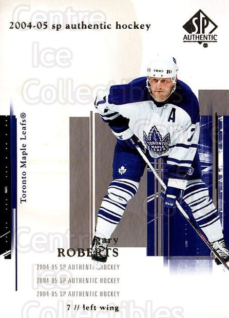 2004-05 SP Authentic #86 Gary Roberts<br/>6 In Stock - $1.00 each - <a href=https://centericecollectibles.foxycart.com/cart?name=2004-05%20SP%20Authentic%20%2386%20Gary%20Roberts...&quantity_max=6&price=$1.00&code=123986 class=foxycart> Buy it now! </a>