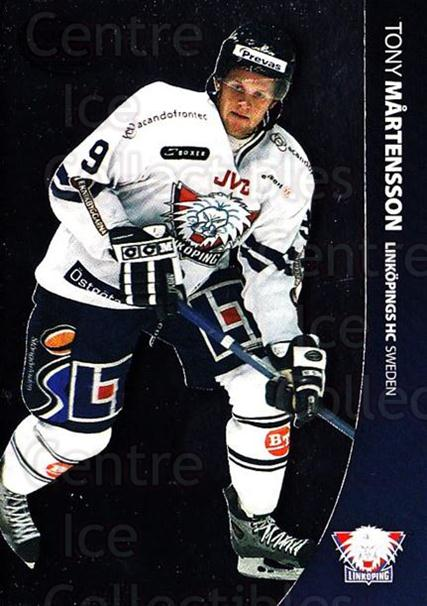 2004-05 Swedish Pure Skills #45 Tony Martensson<br/>6 In Stock - $2.00 each - <a href=https://centericecollectibles.foxycart.com/cart?name=2004-05%20Swedish%20Pure%20Skills%20%2345%20Tony%20Martensson...&quantity_max=6&price=$2.00&code=124269 class=foxycart> Buy it now! </a>