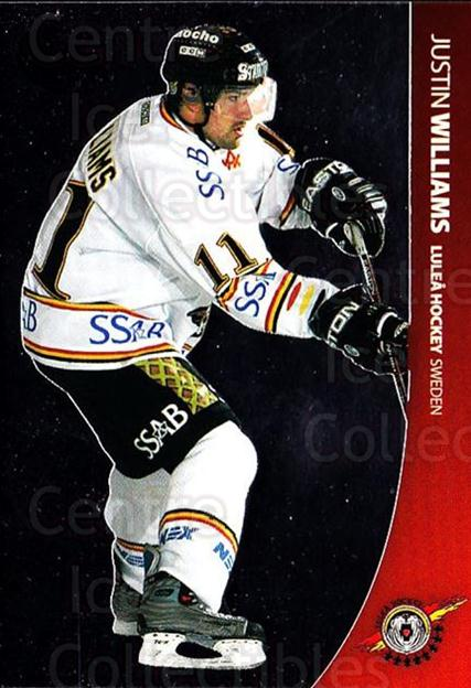 2004-05 Swedish Pure Skills #53 Justin Williams<br/>5 In Stock - $2.00 each - <a href=https://centericecollectibles.foxycart.com/cart?name=2004-05%20Swedish%20Pure%20Skills%20%2353%20Justin%20Williams...&quantity_max=5&price=$2.00&code=124278 class=foxycart> Buy it now! </a>