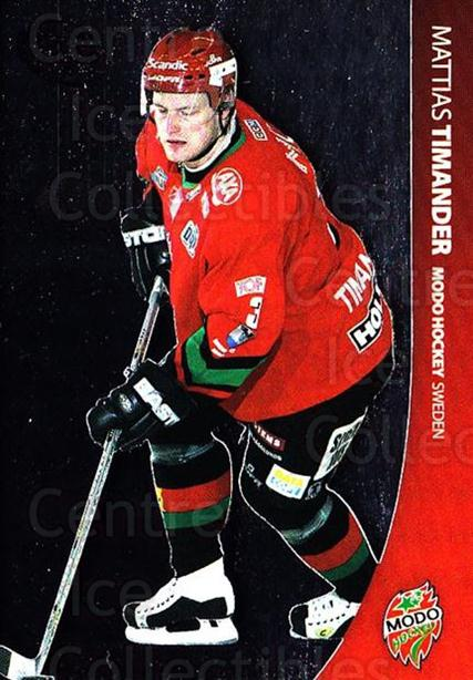 2004-05 Swedish Pure Skills #63 Mattias Timander<br/>6 In Stock - $2.00 each - <a href=https://centericecollectibles.foxycart.com/cart?name=2004-05%20Swedish%20Pure%20Skills%20%2363%20Mattias%20Timande...&quantity_max=6&price=$2.00&code=124287 class=foxycart> Buy it now! </a>