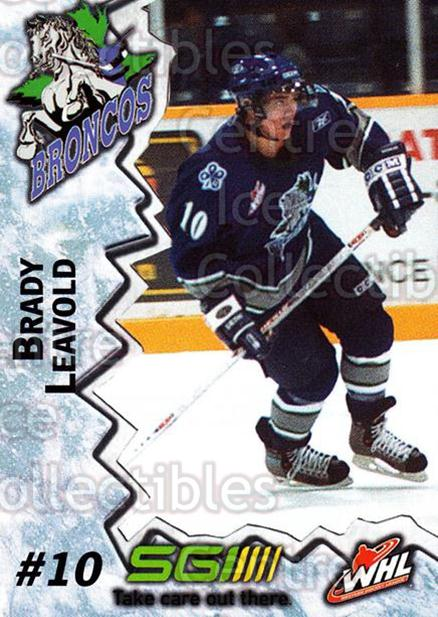 2004-05 Swift Current Broncos #11 Brady Leavold<br/>8 In Stock - $3.00 each - <a href=https://centericecollectibles.foxycart.com/cart?name=2004-05%20Swift%20Current%20Broncos%20%2311%20Brady%20Leavold...&quantity_max=8&price=$3.00&code=124325 class=foxycart> Buy it now! </a>