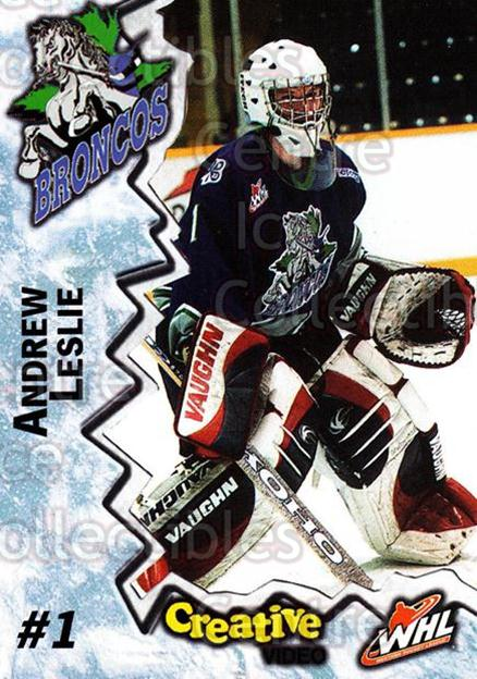 2004-05 Swift Current Broncos #12 Andrew Leslie<br/>10 In Stock - $3.00 each - <a href=https://centericecollectibles.foxycart.com/cart?name=2004-05%20Swift%20Current%20Broncos%20%2312%20Andrew%20Leslie...&quantity_max=10&price=$3.00&code=124326 class=foxycart> Buy it now! </a>