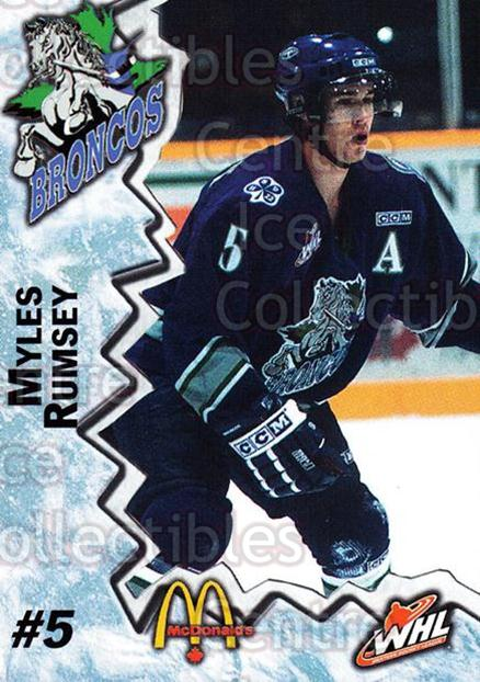 2004-05 Swift Current Broncos #16 Myles Rumsey<br/>7 In Stock - $3.00 each - <a href=https://centericecollectibles.foxycart.com/cart?name=2004-05%20Swift%20Current%20Broncos%20%2316%20Myles%20Rumsey...&quantity_max=7&price=$3.00&code=124329 class=foxycart> Buy it now! </a>