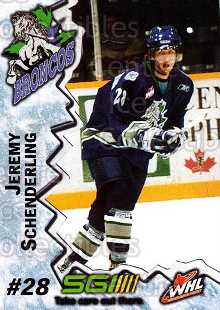 2004-05 Swift Current Broncos #18 Jeremy Schenderling<br/>10 In Stock - $3.00 each - <a href=https://centericecollectibles.foxycart.com/cart?name=2004-05%20Swift%20Current%20Broncos%20%2318%20Jeremy%20Schender...&quantity_max=10&price=$3.00&code=124331 class=foxycart> Buy it now! </a>
