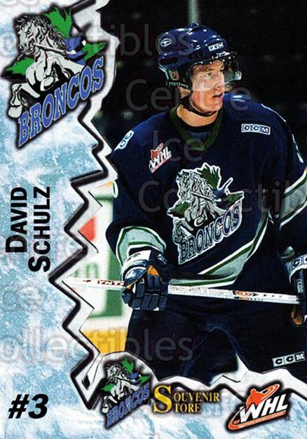 2004-05 Swift Current Broncos #19 David Schulz<br/>9 In Stock - $3.00 each - <a href=https://centericecollectibles.foxycart.com/cart?name=2004-05%20Swift%20Current%20Broncos%20%2319%20David%20Schulz...&quantity_max=9&price=$3.00&code=124332 class=foxycart> Buy it now! </a>