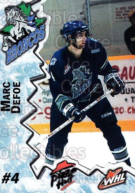 2004-05 Swift Current Broncos #2 Marc Defoe<br/>10 In Stock - $3.00 each - <a href=https://centericecollectibles.foxycart.com/cart?name=2004-05%20Swift%20Current%20Broncos%20%232%20Marc%20Defoe...&quantity_max=10&price=$3.00&code=124333 class=foxycart> Buy it now! </a>