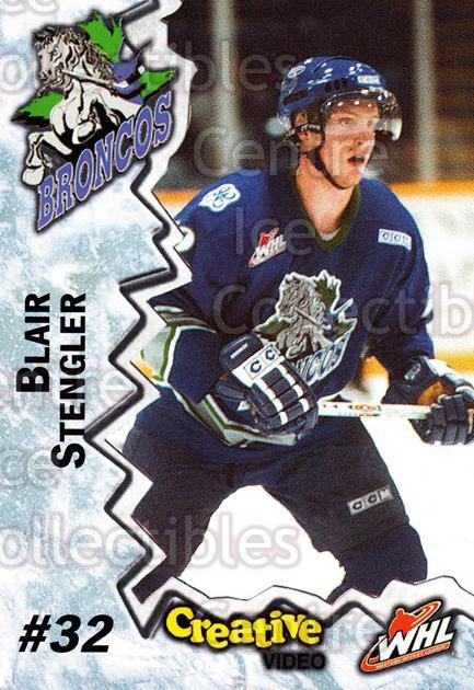 2004-05 Swift Current Broncos #20 Blair Stengler<br/>10 In Stock - $3.00 each - <a href=https://centericecollectibles.foxycart.com/cart?name=2004-05%20Swift%20Current%20Broncos%20%2320%20Blair%20Stengler...&quantity_max=10&price=$3.00&code=124334 class=foxycart> Buy it now! </a>