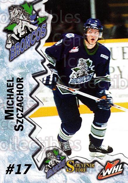 2004-05 Swift Current Broncos #22 Michael Szczachor<br/>5 In Stock - $3.00 each - <a href=https://centericecollectibles.foxycart.com/cart?name=2004-05%20Swift%20Current%20Broncos%20%2322%20Michael%20Szczach...&quantity_max=5&price=$3.00&code=124336 class=foxycart> Buy it now! </a>