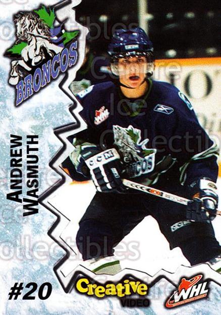 2004-05 Swift Current Broncos #24 Andrew Wasmuth<br/>10 In Stock - $3.00 each - <a href=https://centericecollectibles.foxycart.com/cart?name=2004-05%20Swift%20Current%20Broncos%20%2324%20Andrew%20Wasmuth...&quantity_max=10&price=$3.00&code=124338 class=foxycart> Buy it now! </a>