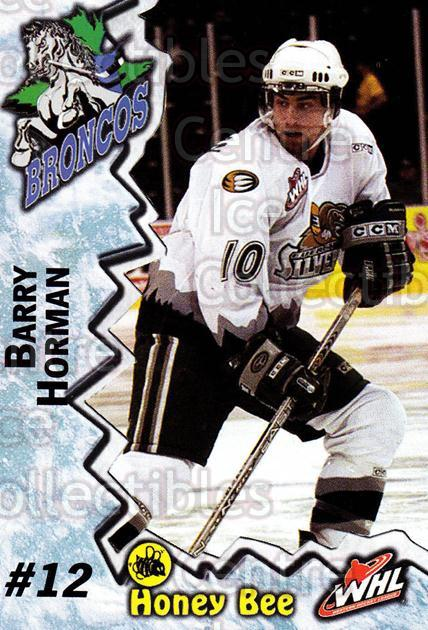 2004-05 Swift Current Broncos #7 Barry Horman<br/>9 In Stock - $3.00 each - <a href=https://centericecollectibles.foxycart.com/cart?name=2004-05%20Swift%20Current%20Broncos%20%237%20Barry%20Horman...&quantity_max=9&price=$3.00&code=124342 class=foxycart> Buy it now! </a>
