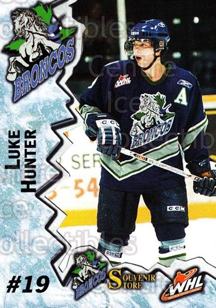 2004-05 Swift Current Broncos #9 Luke Hunter<br/>10 In Stock - $3.00 each - <a href=https://centericecollectibles.foxycart.com/cart?name=2004-05%20Swift%20Current%20Broncos%20%239%20Luke%20Hunter...&quantity_max=10&price=$3.00&code=124344 class=foxycart> Buy it now! </a>
