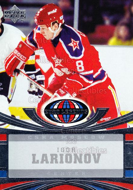 2004-05 UD All World #110 Igor Larionov<br/>5 In Stock - $2.00 each - <a href=https://centericecollectibles.foxycart.com/cart?name=2004-05%20UD%20All%20World%20%23110%20Igor%20Larionov...&quantity_max=5&price=$2.00&code=124347 class=foxycart> Buy it now! </a>