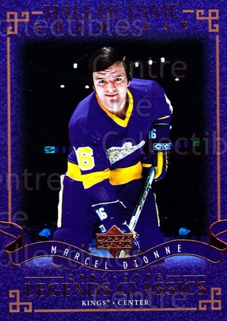 2004-05 UD Legends Classics #100 Marcel Dionne<br/>9 In Stock - $1.00 each - <a href=https://centericecollectibles.foxycart.com/cart?name=2004-05%20UD%20Legends%20Classics%20%23100%20Marcel%20Dionne...&quantity_max=9&price=$1.00&code=124478 class=foxycart> Buy it now! </a>