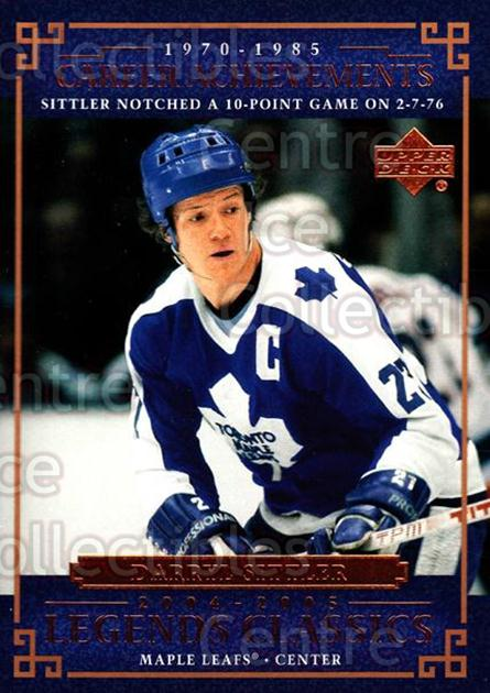 2004-05 UD Legends Classics #59 Darryl Sittler<br/>8 In Stock - $2.00 each - <a href=https://centericecollectibles.foxycart.com/cart?name=2004-05%20UD%20Legends%20Classics%20%2359%20Darryl%20Sittler...&quantity_max=8&price=$2.00&code=124531 class=foxycart> Buy it now! </a>