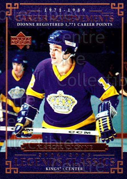2004-05 UD Legends Classics #64 Marcel Dionne<br/>8 In Stock - $1.00 each - <a href=https://centericecollectibles.foxycart.com/cart?name=2004-05%20UD%20Legends%20Classics%20%2364%20Marcel%20Dionne...&quantity_max=8&price=$1.00&code=124537 class=foxycart> Buy it now! </a>