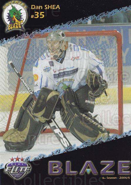 2004-05 UK British Elite Coventry Blaze #3 Dan Shea<br/>1 In Stock - $2.00 each - <a href=https://centericecollectibles.foxycart.com/cart?name=2004-05%20UK%20British%20Elite%20Coventry%20Blaze%20%233%20Dan%20Shea...&price=$2.00&code=124580 class=foxycart> Buy it now! </a>