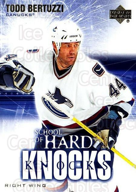 2004-05 Upper Deck School of Hard Knocks #7 Todd Bertuzzi<br/>10 In Stock - $3.00 each - <a href=https://centericecollectibles.foxycart.com/cart?name=2004-05%20Upper%20Deck%20School%20of%20Hard%20Knocks%20%237%20Todd%20Bertuzzi...&quantity_max=10&price=$3.00&code=124652 class=foxycart> Buy it now! </a>