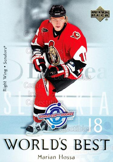 2004-05 Upper Deck Worlds Best #22 Marian Hossa<br/>15 In Stock - $2.00 each - <a href=https://centericecollectibles.foxycart.com/cart?name=2004-05%20Upper%20Deck%20Worlds%20Best%20%2322%20Marian%20Hossa...&quantity_max=15&price=$2.00&code=124667 class=foxycart> Buy it now! </a>