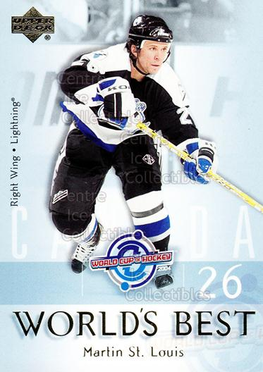 2004-05 Upper Deck Worlds Best #3 Martin St. Louis<br/>17 In Stock - $2.00 each - <a href=https://centericecollectibles.foxycart.com/cart?name=2004-05%20Upper%20Deck%20Worlds%20Best%20%233%20Martin%20St.%20Loui...&quantity_max=17&price=$2.00&code=124673 class=foxycart> Buy it now! </a>