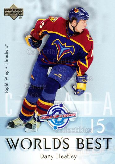 2004-05 Upper Deck Worlds Best #7 Dany Heatley<br/>19 In Stock - $2.00 each - <a href=https://centericecollectibles.foxycart.com/cart?name=2004-05%20Upper%20Deck%20Worlds%20Best%20%237%20Dany%20Heatley...&quantity_max=19&price=$2.00&code=124676 class=foxycart> Buy it now! </a>