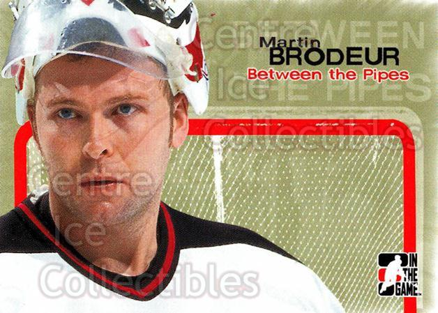 2005 Between the Pipes #3 Martin Brodeur<br/>7 In Stock - $2.00 each - <a href=https://centericecollectibles.foxycart.com/cart?name=2005%20Between%20the%20Pipes%20%233%20Martin%20Brodeur...&price=$2.00&code=124752 class=foxycart> Buy it now! </a>
