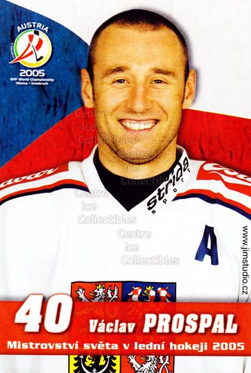 2005-06 Czech World Championship Portraits Postcards #12 Vaclav Prospal<br/>2 In Stock - $3.00 each - <a href=https://centericecollectibles.foxycart.com/cart?name=2005-06%20Czech%20World%20Championship%20Portraits%20Postcards%20%2312%20Vaclav%20Prospal...&quantity_max=2&price=$3.00&code=124869 class=foxycart> Buy it now! </a>