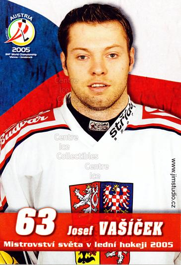 2005-06 Czech World Championship Portraits Postcards #21 Josef Vasicek<br/>1 In Stock - $3.00 each - <a href=https://centericecollectibles.foxycart.com/cart?name=2005-06%20Czech%20World%20Championship%20Portraits%20Postcards%20%2321%20Josef%20Vasicek...&quantity_max=1&price=$3.00&code=124874 class=foxycart> Buy it now! </a>