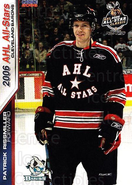 2005-06 AHL AS #32 Pat Rissmiller<br/>4 In Stock - $3.00 each - <a href=https://centericecollectibles.foxycart.com/cart?name=2005-06%20AHL%20AS%20%2332%20Pat%20Rissmiller...&quantity_max=4&price=$3.00&code=124947 class=foxycart> Buy it now! </a>