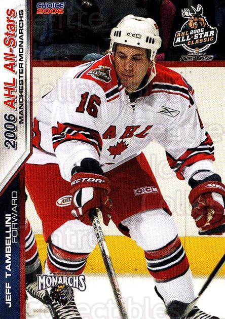 2005-06 AHL AS #39 Jeff Tambellini<br/>2 In Stock - $3.00 each - <a href=https://centericecollectibles.foxycart.com/cart?name=2005-06%20AHL%20AS%20%2339%20Jeff%20Tambellini...&quantity_max=2&price=$3.00&code=124954 class=foxycart> Buy it now! </a>