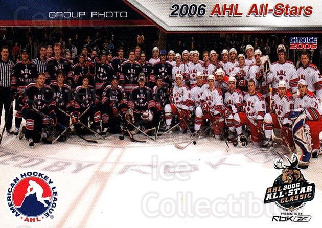 2005-06 AHL AS #44 Team Photo<br/>6 In Stock - $3.00 each - <a href=https://centericecollectibles.foxycart.com/cart?name=2005-06%20AHL%20AS%20%2344%20Team%20Photo...&quantity_max=6&price=$3.00&code=124960 class=foxycart> Buy it now! </a>