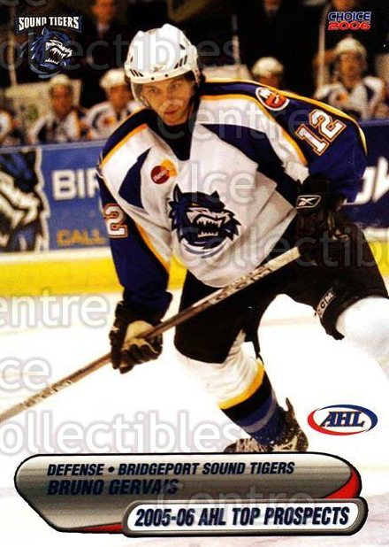2005-06 AHL Top Prospects #16 Bruno Gervais<br/>8 In Stock - $3.00 each - <a href=https://centericecollectibles.foxycart.com/cart?name=2005-06%20AHL%20Top%20Prospects%20%2316%20Bruno%20Gervais...&price=$3.00&code=124974 class=foxycart> Buy it now! </a>