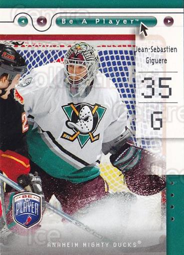 2005-06 Be A Player #1 Jean-Sebastien Giguere<br/>3 In Stock - $1.00 each - <a href=https://centericecollectibles.foxycart.com/cart?name=2005-06%20Be%20A%20Player%20%231%20Jean-Sebastien%20...&quantity_max=3&price=$1.00&code=125240 class=foxycart> Buy it now! </a>