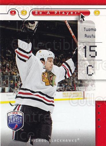 2005-06 Be A Player #17 Tuomo Ruutu<br/>4 In Stock - $1.00 each - <a href=https://centericecollectibles.foxycart.com/cart?name=2005-06%20Be%20A%20Player%20%2317%20Tuomo%20Ruutu...&quantity_max=4&price=$1.00&code=125247 class=foxycart> Buy it now! </a>