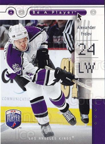 2005-06 Be A Player #43 Alexander Frolov<br/>3 In Stock - $1.00 each - <a href=https://centericecollectibles.foxycart.com/cart?name=2005-06%20Be%20A%20Player%20%2343%20Alexander%20Frolo...&quantity_max=3&price=$1.00&code=125273 class=foxycart> Buy it now! </a>