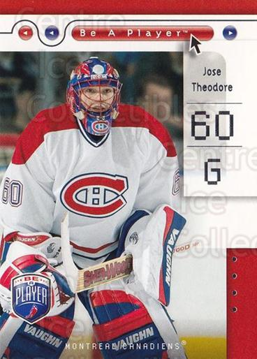 2005-06 Be A Player #47 Jose Theodore<br/>4 In Stock - $1.00 each - <a href=https://centericecollectibles.foxycart.com/cart?name=2005-06%20Be%20A%20Player%20%2347%20Jose%20Theodore...&quantity_max=4&price=$1.00&code=125277 class=foxycart> Buy it now! </a>