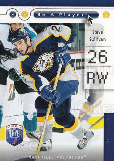 2005-06 Be A Player #50 Steve Sullivan<br/>4 In Stock - $1.00 each - <a href=https://centericecollectibles.foxycart.com/cart?name=2005-06%20Be%20A%20Player%20%2350%20Steve%20Sullivan...&quantity_max=4&price=$1.00&code=125281 class=foxycart> Buy it now! </a>