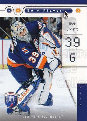 2005-06 Be A Player #55 Rick DiPietro<br/>4 In Stock - $1.00 each - <a href=https://centericecollectibles.foxycart.com/cart?name=2005-06%20Be%20A%20Player%20%2355%20Rick%20DiPietro...&quantity_max=4&price=$1.00&code=125285 class=foxycart> Buy it now! </a>