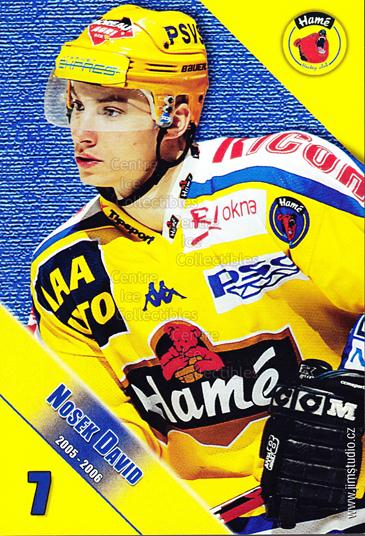 2005-06 Czech HC Hame Postcards #12 David Nosek<br/>1 In Stock - $3.00 each - <a href=https://centericecollectibles.foxycart.com/cart?name=2005-06%20Czech%20HC%20Hame%20Postcards%20%2312%20David%20Nosek...&quantity_max=1&price=$3.00&code=125774 class=foxycart> Buy it now! </a>