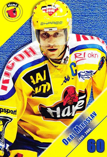 2005-06 Czech HC Hame Postcards #13 Miroslav Okal<br/>1 In Stock - $3.00 each - <a href=https://centericecollectibles.foxycart.com/cart?name=2005-06%20Czech%20HC%20Hame%20Postcards%20%2313%20Miroslav%20Okal...&quantity_max=1&price=$3.00&code=125775 class=foxycart> Buy it now! </a>