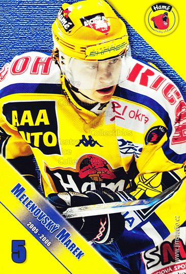 2005-06 Czech HC Hame Postcards #9 Marek Melenovsky<br/>1 In Stock - $3.00 each - <a href=https://centericecollectibles.foxycart.com/cart?name=2005-06%20Czech%20HC%20Hame%20Postcards%20%239%20Marek%20Melenovsk...&quantity_max=1&price=$3.00&code=125785 class=foxycart> Buy it now! </a>