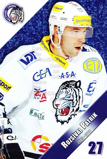 2005-06 Czech Bili Tygri Liberec Postcards #12 Patrik Rozsival<br/>1 In Stock - $3.00 each - <a href=https://centericecollectibles.foxycart.com/cart?name=2005-06%20Czech%20Bili%20Tygri%20Liberec%20Postcards%20%2312%20Patrik%20Rozsival...&price=$3.00&code=125803 class=foxycart> Buy it now! </a>