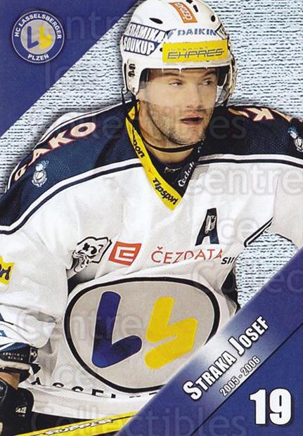 2005-06 Czech HC Plzen Postcards #11 Josef Straka<br/>1 In Stock - $3.00 each - <a href=https://centericecollectibles.foxycart.com/cart?name=2005-06%20Czech%20HC%20Plzen%20Postcards%20%2311%20Josef%20Straka...&quantity_max=1&price=$3.00&code=125830 class=foxycart> Buy it now! </a>