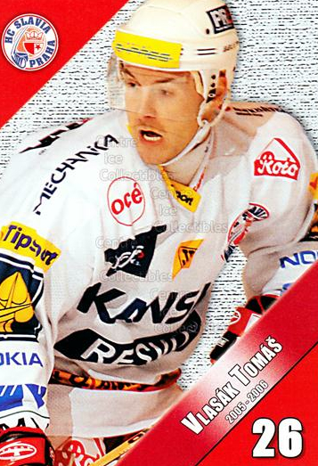 2005-06 Czech HC Slavia Praha Postcards #13 Tomas Vlasak<br/>1 In Stock - $3.00 each - <a href=https://centericecollectibles.foxycart.com/cart?name=2005-06%20Czech%20HC%20Slavia%20Praha%20Postcards%20%2313%20Tomas%20Vlasak...&price=$3.00&code=125842 class=foxycart> Buy it now! </a>