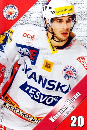 2005-06 Czech HC Slavia Praha Postcards #14 Michal Vondrka<br/>1 In Stock - $3.00 each - <a href=https://centericecollectibles.foxycart.com/cart?name=2005-06%20Czech%20HC%20Slavia%20Praha%20Postcards%20%2314%20Michal%20Vondrka...&price=$3.00&code=125843 class=foxycart> Buy it now! </a>