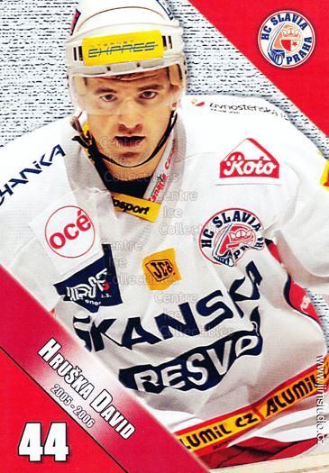 2005-06 Czech HC Slavia Praha Postcards #8 David Hruska<br/>3 In Stock - $3.00 each - <a href=https://centericecollectibles.foxycart.com/cart?name=2005-06%20Czech%20HC%20Slavia%20Praha%20Postcards%20%238%20David%20Hruska...&price=$3.00&code=125851 class=foxycart> Buy it now! </a>
